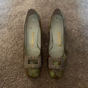 Gorgeous vintage green block heels - made in Italy